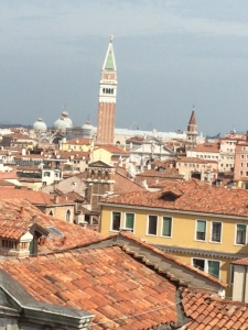 The view of St Mark's from the sixth floor of the former Palazzo Pisani, now the Venice Conservatory.