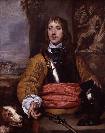 A more authentic buff coat, with a cuirass over it: this is Royalist soldier Richard Neville, portrayed by William Dobson. (Credit: National Portrait Gallery.)