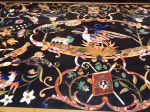 One of a pair of superb pietra dura tables.