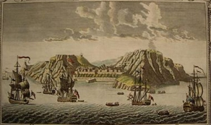 St Helena in the 1790s. Note the denuded hillsides.