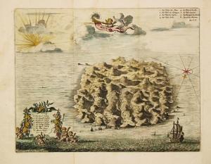 Map of St Helena by the Dutch cartographer Pieter van der Aa (1659–1733).