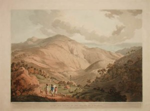 A view in St Helena, by the traveller and Egyptologist Henry Salt.