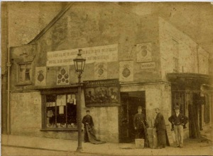 Charles Sharpe's shop at the end of the nineteenth century.