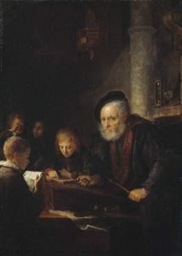 Gerrit Dou's 'Schoolmaster'.