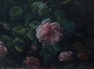 More roses: a detail of the outdoor portrait of the marquise de Pezay and the marquise de Rougé, with the latter's children.