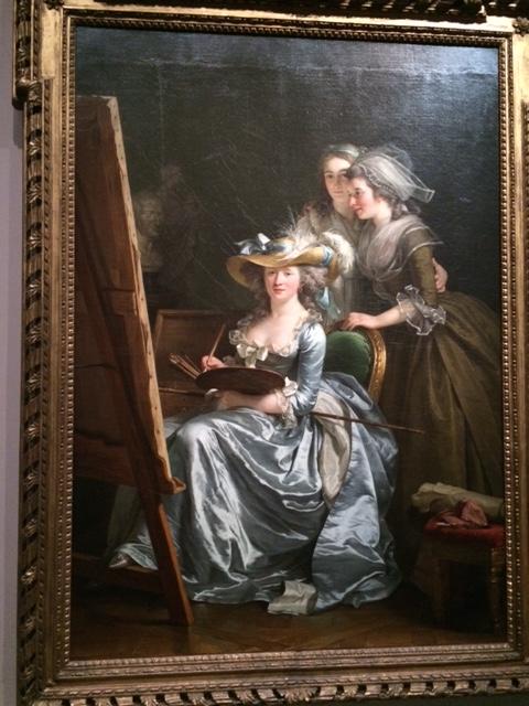 Adelaïde Labille-Guiard in her studio, with two pupils, Marie Capet and Marie Marguerite Carreaux de Rosemond.