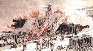 A sketch of the 1842 disaster.