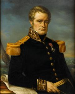 The older Dumont D'Urville, painted after his death by J. Cartellier.