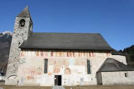 The fresco on the outside wall of the church of San Virgilio, Pinzolo.