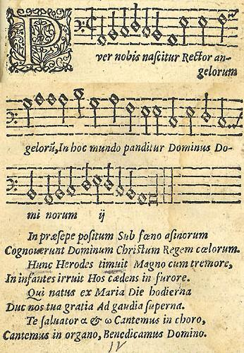 Puer nobis nascitur, from Piae Cantiones (originally published in 1582).