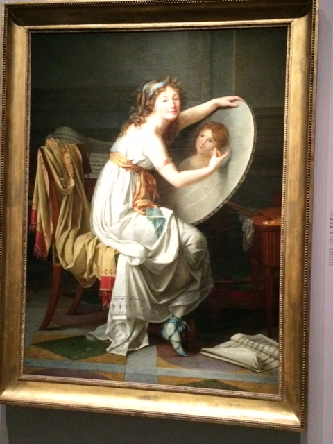 (Probably) self-portrait of Adèle Romany (1769–1846), who also adopted neoclassical dress – and gorgeous sandals!