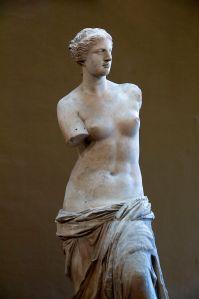 The Venus de Milo, in the Louvre.