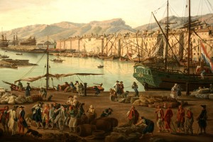 The harbour at Toulon in the late eighteenth century, by C.J. Vernet.