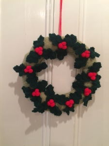 One of the Christmas wreaths – sold out rapidly.