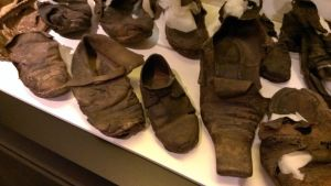 Concealed shoes found in East Anglia, from the Collection of St Edmundsbury Heritage Service, St Edmundsbury Borough Council.
