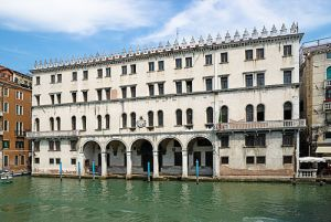 The Fondaco dei Tedeschi on the Grand Canal: until recently it was the central post office of Venice.