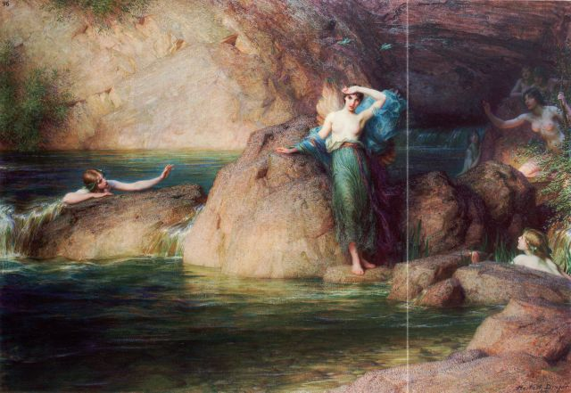 This gruesome version of Halcyone on the seashore was painted in 1915 by Herbert James Draper.