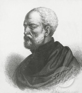 A nineteenth-century engraving of Ramusio: probably guesswork as no contemporary images seem to ahve survived.