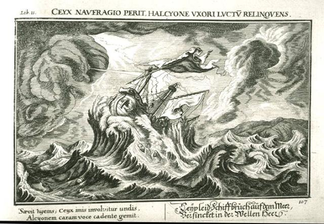 An image of the shipwreck of Ceyx, by Johann Wilhelm Baur (1600–40), part of a set of plates used for many European editions of the Metamorphoses of Ovid.