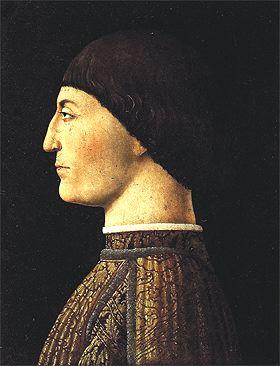 Sigismondo Malatesta, aka the Wolf of Rimini, by Piero della Francesca (now in the Louvre, Paris).