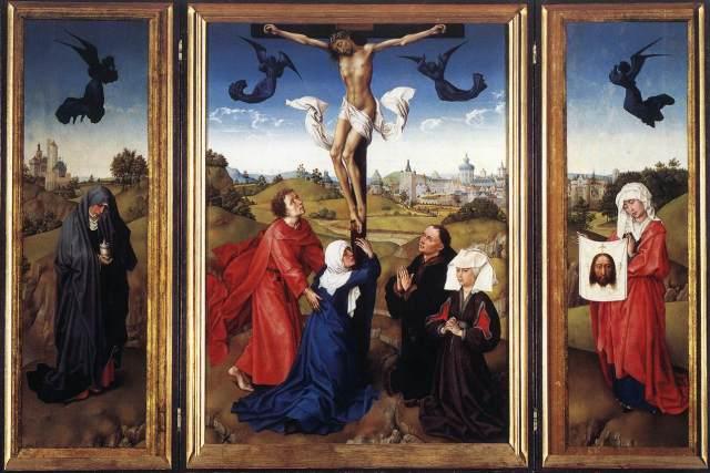 Rogier van der Weyden's 'Crucifixion' triptych. Vienna: Kunsthistorisches Museum.
