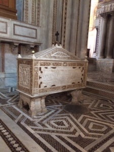 The tomb of William II in his cathedral of Monreale.
