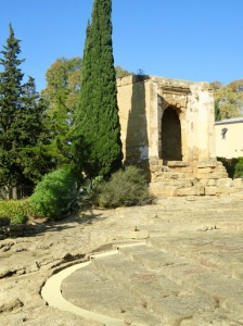 The path up to the archaeological museum, surrounded by remains of the city.