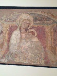 Fresco showing the Virgin and Child, from the church of San Spirito, now in the Palazzo Abbatelis.