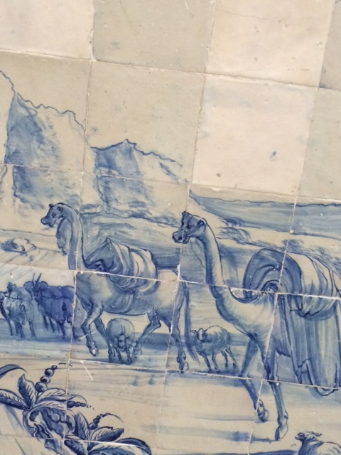 Camels traversing the desert.