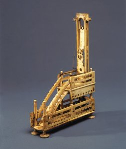 A model of a guillotine made of animal bones, c. 1800–15.