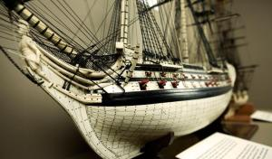 This model ship ('Le vengeur du peuple', of which the original was sunk on the Glorious First of June) was made at Portchester Castle and is now in the Vancouver Maritime Museum.