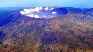 The crater of Mount Tambora today.