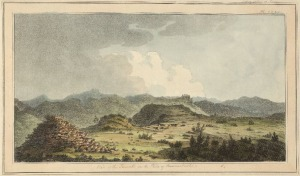 An 1810 sketch of the ancient mounds at Bunarbashi, by Sir William Gell.