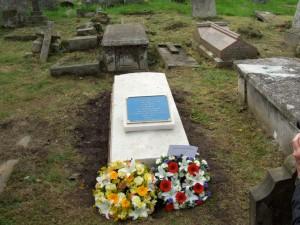 Maria Callcott's grave, after restoration.