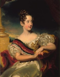 Maria II of Portugal, aged 10, by John Simpson, a pupil of Lawrence.