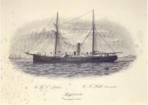 The Polaris at sea.
