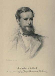 John Lubbock, from the frontispiece to Volume 1 of Hutchinson's biography.