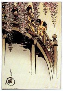 Moon Bridge at Kameido, by Helen Hyde (1914).