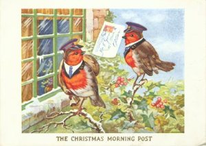 This Christmas card is from the 1930s.