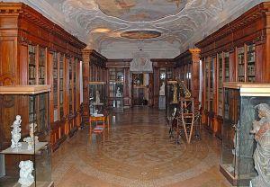 The library of the Armenian monastery on San Lazzaro degli Armeni.