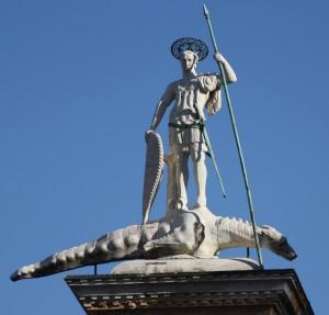 San Teodoro and his crocodile.