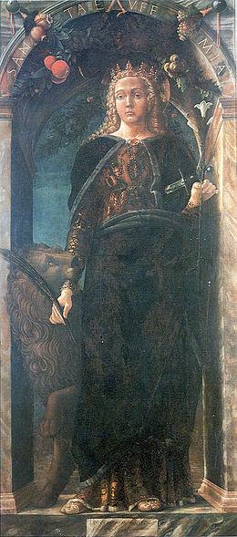 Sant' Eufemia, by Andrea Mantegna, 1454.