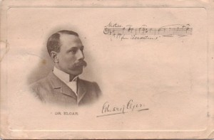 A postcard showing the eventual fame of Elgar and his masterpiece.