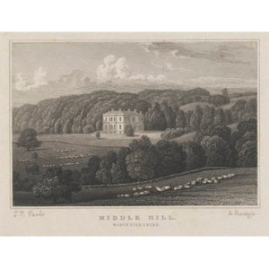 Middle Hill House in the early nineteenth century.