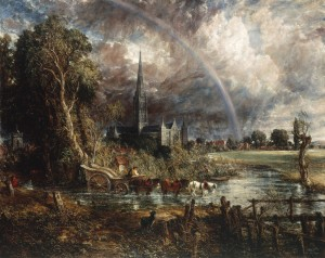 Salisbury Cathedral from the Meadows, by John Constable. (Credit: Tate Britain)