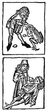 First catch your toad and extract the stones; then apply them to the poison victim. (Sixteenth-century French woodcut.)
