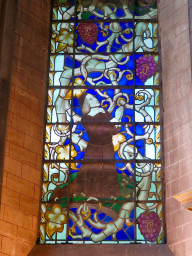 Part of the George Herbert window in the cathedral.