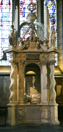 The Gorges monument, with the Herbert window behind.