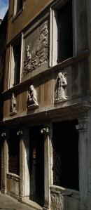 Façade of the (ex)Scuola degli Albanesi, between Campo S. Stefano and Campo S. Maurizio, Venice.