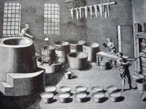 An eighteenth-century soap factory.